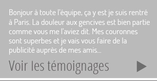 Temoignages couronne dentaire